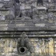 Wall in Borobudur - Stockfoto