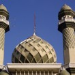 Green mosque — Stock Photo
