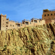 Stock Photo: Casbah on rock