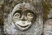 Stone with face — Stock Photo