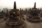Morning in Borobudur — Stock Photo