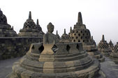 Buddha and stupas — Stock Photo