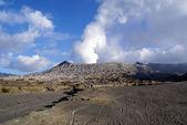Desert and vulcano — Stock Photo