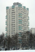 Building and snow — Stock Photo