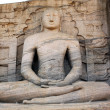Sitting Buddha - Stock Photo