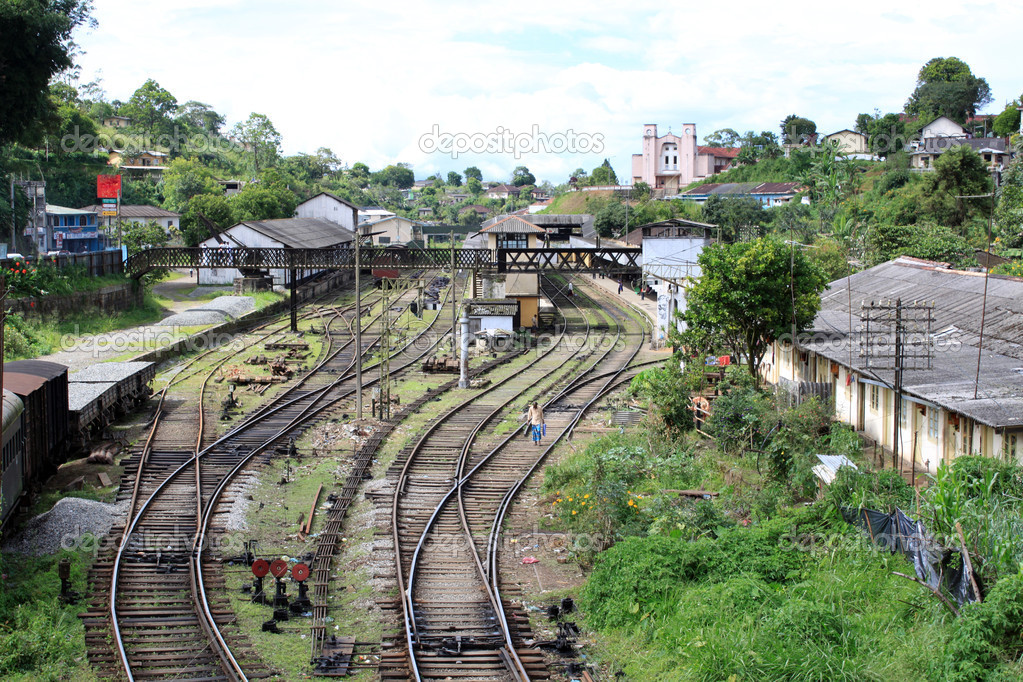 Railway lineas and station in Sri Lanka — Stock Photo #3648927