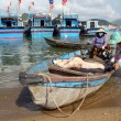 Women and shark in Nha Trang - Stock Photo