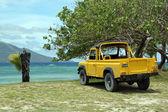 Yellow car — Foto Stock