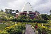 Garden and bahai temple — Stock Photo