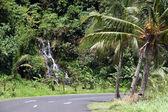 Waterfall near the road — Stock Photo