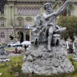 Statue of Neptun on the fountain in Riobamba, Ecuador — Stock Photo #3716927