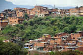 Slum in the district of city Medelyn, Colombia — Stock Photo