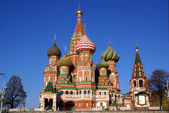 St. Basil's cathedral on the Red Square in Moscow, Russia — Foto Stock