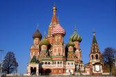 在莫斯科,俄罗斯红场圣瓦西里大教堂 — 图库照片