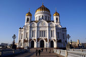 Way to cathedral in Moscow — Stock Photo