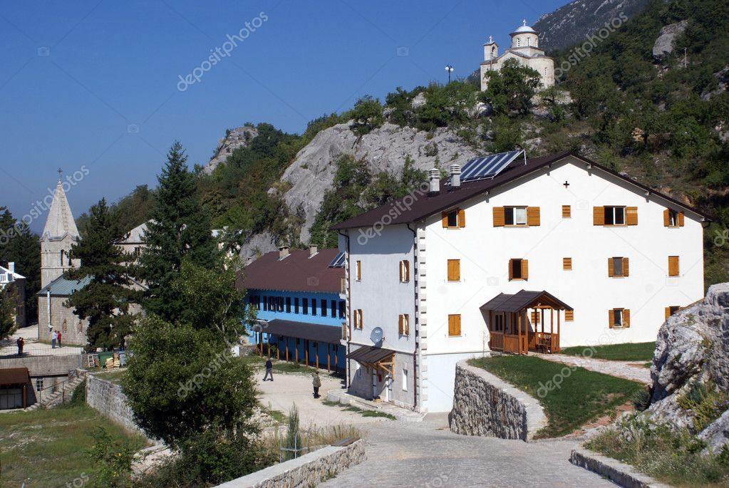 New monastery Ostrog, Montenegro                  — Stock Photo #3761127
