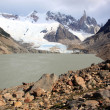 Stock Photo: Lake and glacier
