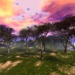 Fantasy trees grove — Stock Photo