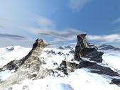 Winter fantasy landscape — Stock Photo
