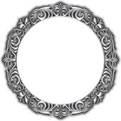 Silver frame isolated — Stock Photo