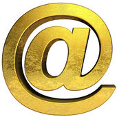 Golden email symbol — Stock Photo