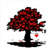 Heart tree — Stock fotografie