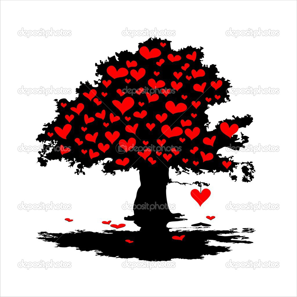 Heart tree, this illustration may be useful as designer work — Stock Photo #3565439