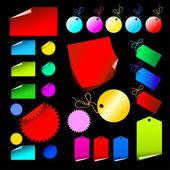 Etiquetas de color — Vector de stock