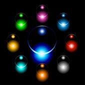 Botones de colores — Vector de stock