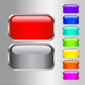 Buttons coloured — Stock Vector