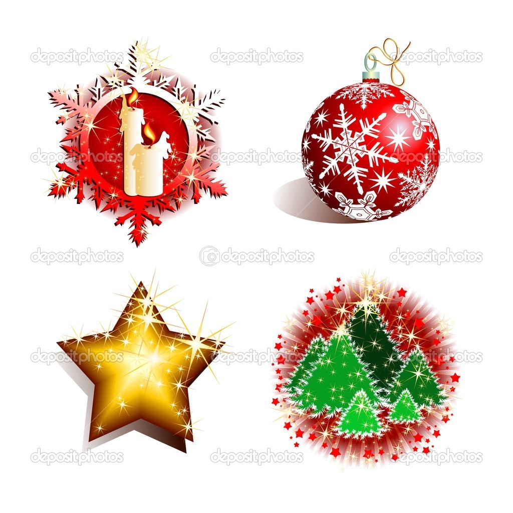 Christmas set, this illustration may be useful as designer work — Stock Vector #3568684
