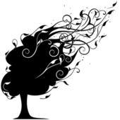 Black tree — Stock Vector