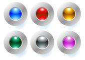Botón de color — Vector de stock
