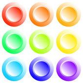Button coloured — Stock Vector