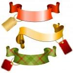 Tags & ribbons — Stock Vector
