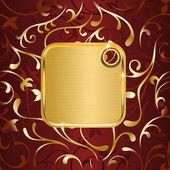 Złota tagu — Wektor stockowy