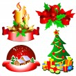 Christmas toys — Stock Vector