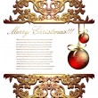 Christmas card - Vettoriali Stock