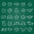 Royalty-Free Stock Vector Image: Childlike emoticons