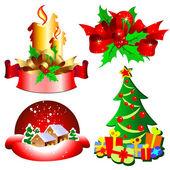 Christmas toys — Cтоковый вектор