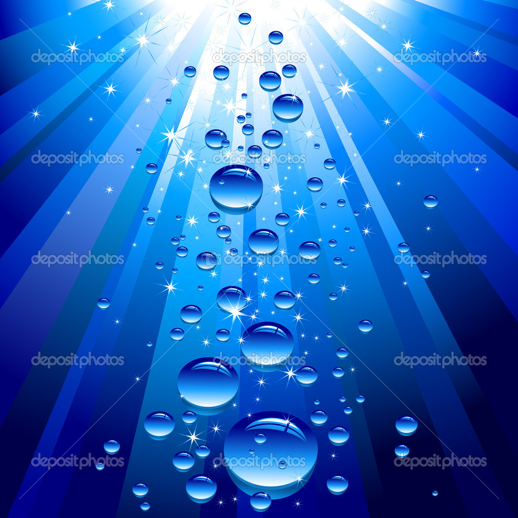 Blue background with bubbles, this illustration may be useful as designer work — Stock Vector #3627068