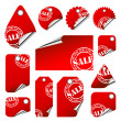 Royalty-Free Stock Vector Image: Red tags