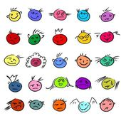 Childlike emoticons — Stock Vector