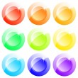 Buttons coloured — Stock Vector