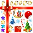 Christmas set - Imagens vectoriais em stock