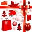 Christmas set — Vector de stock #3676444