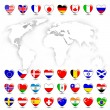 Royalty-Free Stock Vector Image: Map and flag