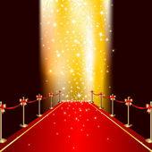 Röda mattan — Stockvektor