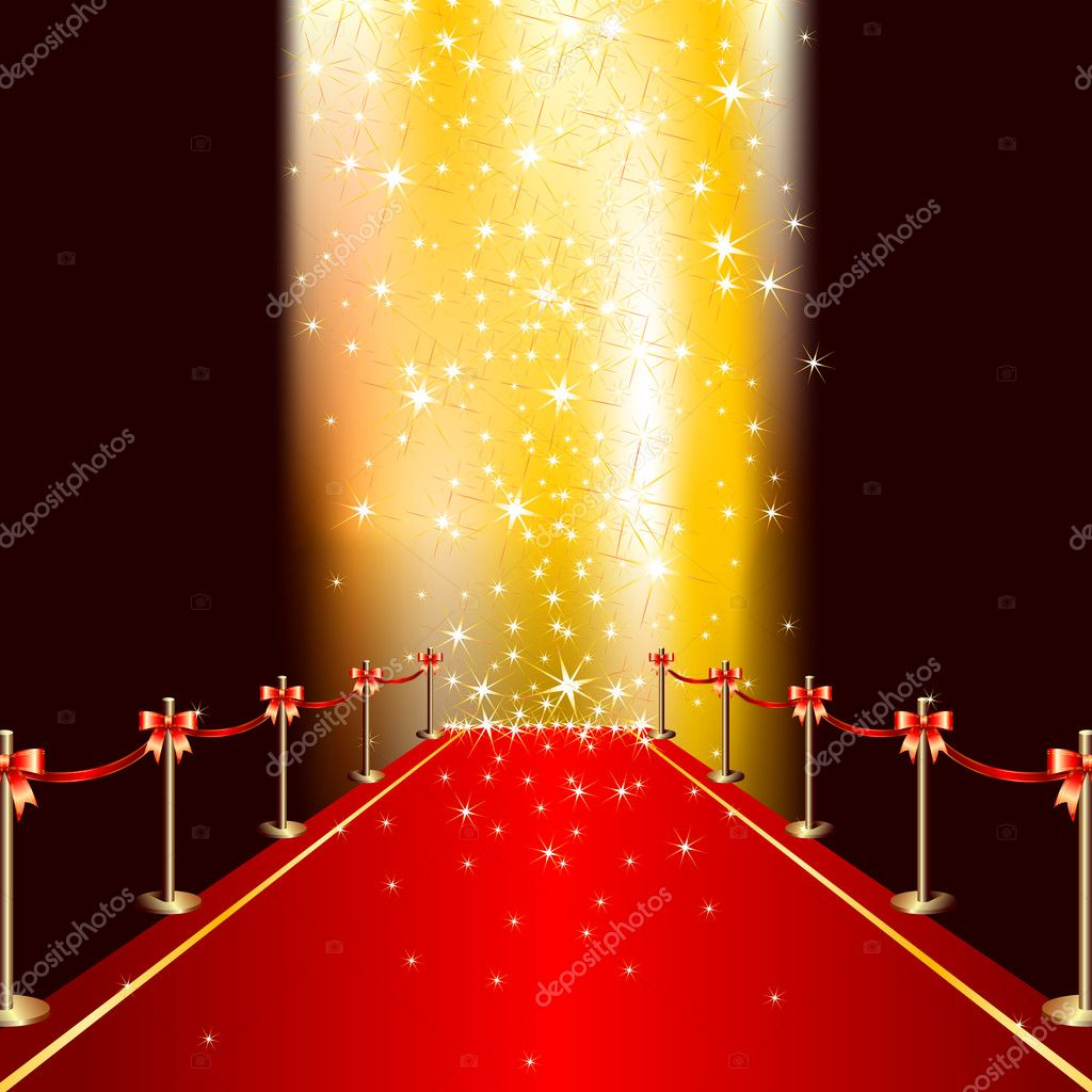 Red carpet, this  illustration may be useful  as designer work — Stock Vector #3676473