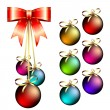 Christmas balls — Vector de stock #3684010